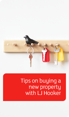 Buying Tips banney - keys hung on hooks